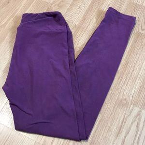 Lularoe Women's leggings purple size OS